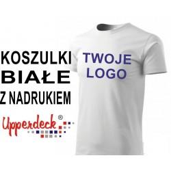 Koszulki z nadrukiem Upperdeck 190 g białe