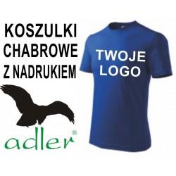 Koszulki z nadrukiem Adler 160 g chabrowe