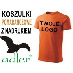 Koszulki z nadrukiem Adler 160 g pomarańczowe