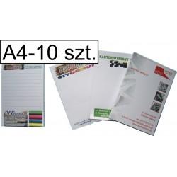 Notesy, bloczki kolorowe A4, pakiet 10 szt.